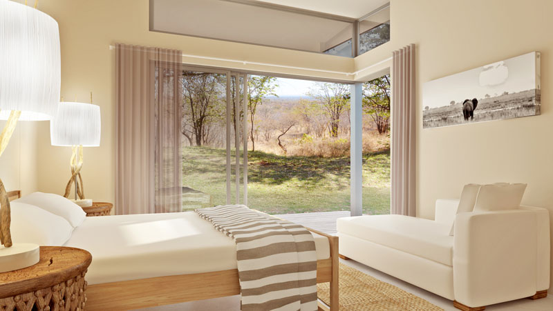 Another bedroom view - Bonamanzi Villas